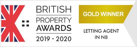Gold Winner British Property Awards 2019-20