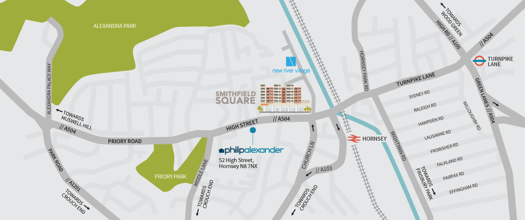 Smithfield Square Location Map