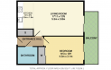 New River Village 1 bedroom flat floorplan