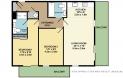 New River Village 2-bedroom flat floorplan